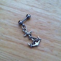 Tragus Piercing  Anchor and Rope Tragus Earring  by ChelseaJewels, $13.50