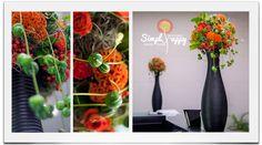 Gorgeous fall corporate floral arrangement