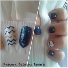 Practice Inspiration Gel and Polish. Studs and Chevron For Manicure And Pedicure