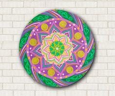 #italiasmartteam  Mandala lotus art. Hand painted sacred by DreamingMandalas on Etsy