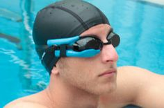 Google Glass For Swimmers--Instabeat is a new device that attaches to your goggles and lets you track your performance using a Heads-up-display (HUD) when swimming. It can track heart rate, breathing pace, calories, laps and turns during your swimming session.