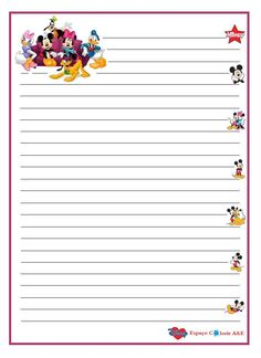 portal A & E, stationery mickey-16