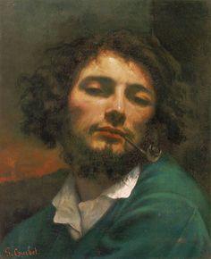 クールベ 「 自画像 (パイプの男) 」 | 1849 | 45x37cm  |ファーブル美術館、モンペリエ