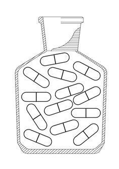Afbeeldingsresultaat voor pot met pillen