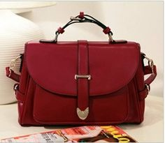 wine red preppy style tote bags shoulder satchels by starbag, $53.28