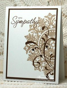 Very nice sympathy card - Stampin' Up! Medallion, Everything Eleanor
