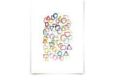 hand painted shapes by aticnomar at minted.com