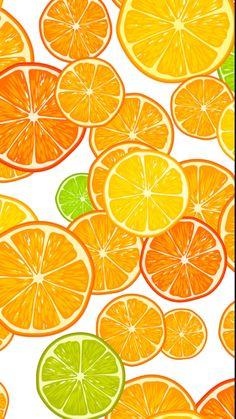 Orange slices custom fabric by sveta_aho for sale on Spoonflower Orange Wallpaper, Summer Wallpaper, Pastel Wallpaper, Cute Wallpaper Backgrounds, Wallpaper Iphone Cute, Cute Wallpapers, Food Wallpaper, Pattern Art, Pattern Design