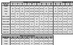 """""""All In One"""" Measurements and Standard to Burda Sizing Chart – Learning Sewing 