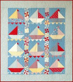 Sailing Sailing Quilt Pattern - Cute Little Boy's Quilt -