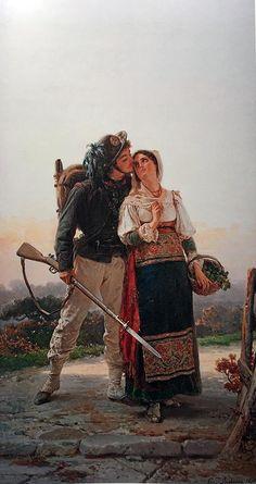 Il bacio del bersagliere, 1870 - Induno Gerolamo