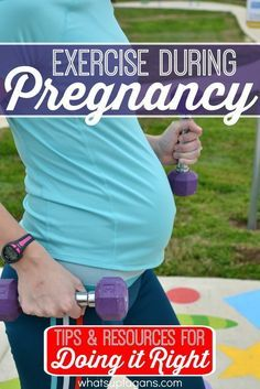 Tips, Advice, and Resources for exercise during pregnancy.  Great information for pregnant women who want a fit pregnancy.