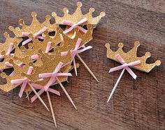 Baby Girl Shower Cupcake Toppers 12CT. by ConfettiMommaParty
