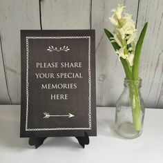 Share Your Memories Sign Condolence Book Funeral by AngelAndDove