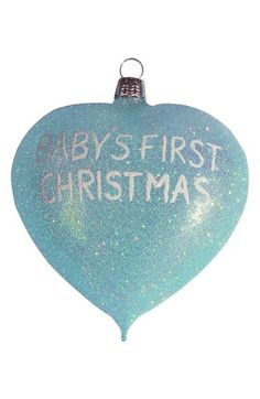 Nordstrom at Home 'Baby's First Christmas 2013' Heart Ornament available at #Nordstrom