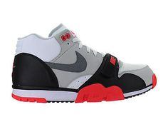 Nike Air Trainer 1 Mid Premium QS Infrared White Cement Grey Black 607081-100