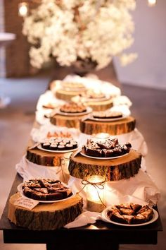 dessert table settings for barn and country weddings