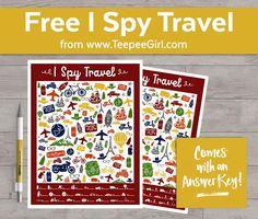 I Spy Travel Printable Game