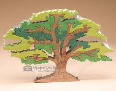 Handmade Amish Jig SawPuzzle -Oak Tree (a27)