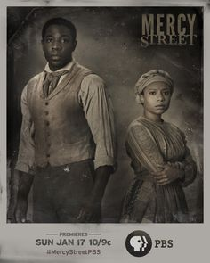 Introducing Mansion House Hospital's Samuel Diggs (McKinley Belcher III), a free black laborer who harbors a secret knowledge in medicine, and Aurelia Johnson (Shalita Grant), an escaped slave living behind Union lines and working as a laundress. See their relationship grow and witness their chemistry on MERCY STREET January 17 at 10/9c on PBS.