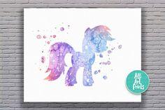 25% OFF: My Little Pony Print My Little Pony Art by AllArtPrints