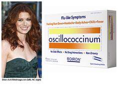 Debra Messing previene los resfriados con oscillococcinum