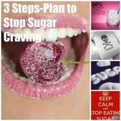 3 Step-Plan to Stop Sugar Craving. By SweetAsHoneyNZ.