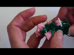 This is a how-to video to make a Lily of the Valley charm bracelet on the MonsterTail and Rainbow Looms. The bracelet looming starts at Copyright Rainbow Loom Tutorials, Rainbow Loom Patterns, Rainbow Loom Creations, Loom Band Bracelets, Loom Bracelet Patterns, Rubber Band Bracelet, Rainbow Loom Bands, Rainbow Loom Charms, Rainbow Loom Bracelets