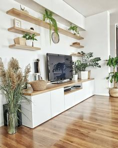 Awesome Home Decoration Ideas – living room – einrichtungsideen wohnzimmer Living Room Wall Units, Living Room Tv Unit Designs, Home Living Room, Living Room Decor, Ikea Tv Wall Unit, Apartment Living, Apartment Hacks, Living Room Seating, Cozy Living Rooms