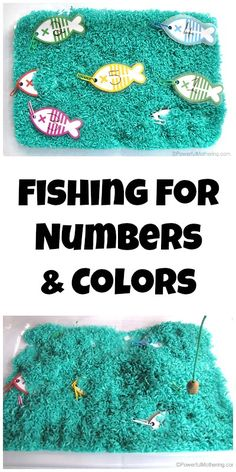 Fishing for numbers and colors: Free printable that is easily adapted for all preschool topics