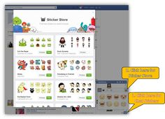 """Fun Tip: Stand out on Facebook by using their Sticker Store for your Chat Messages! How? Click pic for full view with simple instructions. (With a #DuckDynasty example thanks to my 13 yr old son.)  PS - I get asked a lot how I get some of the """"emoticon"""" type faces, objects, etc. in messages..and this is how to get to, and enhance your FB Chat experiences!  #FacebookTips  #SocialMediaTips  #FacebookChat #FacebookStickers"""