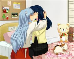 Inuyasha in Kagome's room