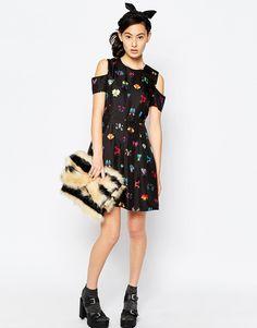 Image 4 ofSonia by Sonia Rykiel Silk Dress in Mirror Print