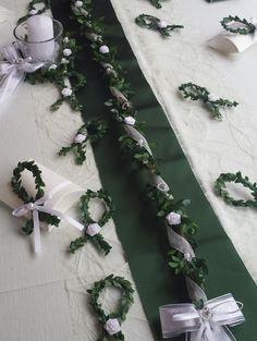 Tischdeko Set grün weiß Tischgirlande Fische Tischdekoration Kommunion Hochzeit   eBay