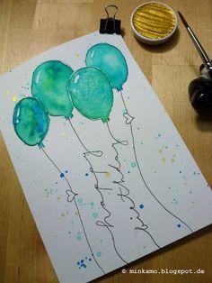 DIY Geburtstagskarte / Birthday Card / watercolour / Aquarell How to Choose the Best Lighting for Yo Handmade Birthday Cards, Happy Birthday Cards, Birthday Greetings, Card Birthday, Birthday Gifts, Birthday Coffee, Birthday Quotes, Happy Birthdays, Birthday Diy