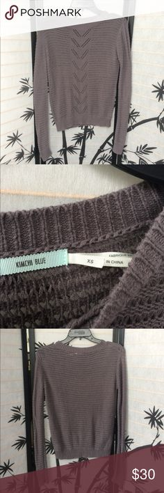 """Urban Uutfitters Knit Sweater No snags or tears! Brand kimchi blue. More of a stone grey color in person. 24"""" length. 17"""" pit to pit. Urban Outfitters Sweaters Crew & Scoop Necks"""