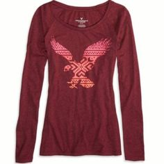 New American Eagle Long Sleeve Graphic T-Shirt XS Brand new! American Eagle Outfitters Tops Tees - Short Sleeve