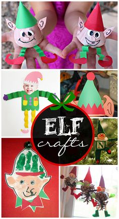 Elf Crafts for Kids to Make at Christmas - Lots of fun ideas! | CraftyMorning.com