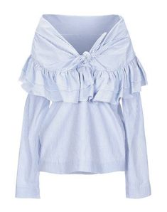 ISA ARFEN Blouse. #isaarfen #cloth Isa Arfen, Neckline, Ruffle Blouse, Stripes, Long Sleeve, Casual, Sleeves, Clothes, Shopping