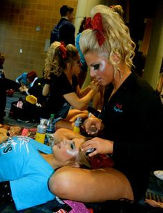 This is like me at competition we always do each others makeup