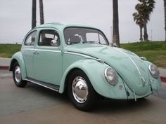 vintage VW - This is a light aqua. This might be closer to the color of mine bachk in the 60's