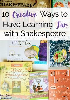 Want to introduce Shakespeare to your kids but not sure how? Check out these 10 creative ways to have learning fun with the Bard! Includes books, games, activities, crafts, & more.