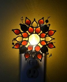 Pizzazz Stained Glass Nightlight by dortdesigns on Etsy