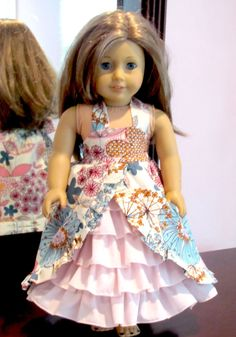 American Girl Doll Clothes Tea Party Dress with by AvannaGirl