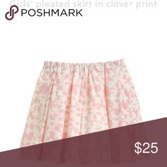 Girls' CREWCUTS-J. Crew pleated skirt clover print CREWCUTS by J. Crew skirt • pleated • clover print • pink & white • SZ 12 • excellent 10/10 condition • fast shipping J. Crew Bottoms Skirts