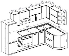 Standard Kitchen Dimensions And Layout - Engineering Discoveries Kitchen Room Design, Kitchen Cabinet Design, Modern Kitchen Design, Interior Design Kitchen, Modern Kitchen Cabinets, Kitchen Cabinet Dimensions, Kitchen Cabinet Sizes, Kitchen Sets, Kitchen Layout Plans