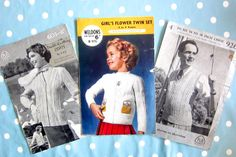 Vintage knitting patterns not pdf 1950s knitting patterns, mens ladies childrens knitting patterns, cardigan pattern, pullover pattern, by thevintagemagpie01 on Etsy