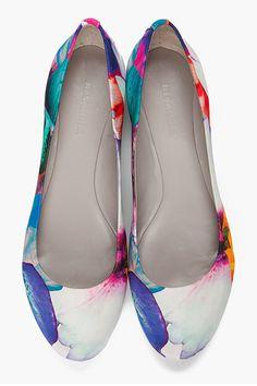 Jil Sander Floral Ballet Flats