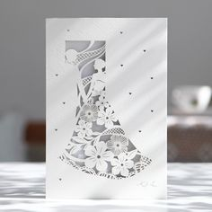 lightblue Laser Cut Tuxedo Dress Wedding Invitations – BH 4130 | ItsInvitation