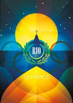 RIO Olympics Poster By Rob Nichols  www.facebook.com/RobNicholsDesign